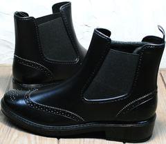 Резиновая обувь для города женская W9072Black.