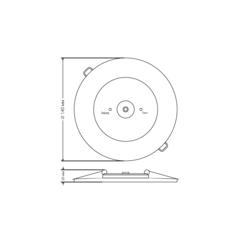 Встраиваемые аварийные светильники PL CL 1.1 – размеры светильника