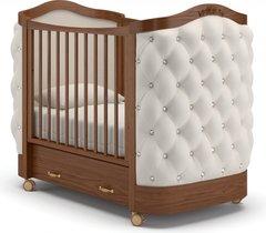 Кровать детская Тиффани декор стразы орех