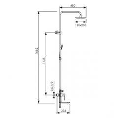Душевая система KAISER Linear 59182 схема