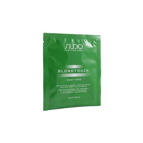 Обесцвечивающий порошок с экстрактом женьшеня и рисовыми протеинами Kapous Studio Dust Free 30 г