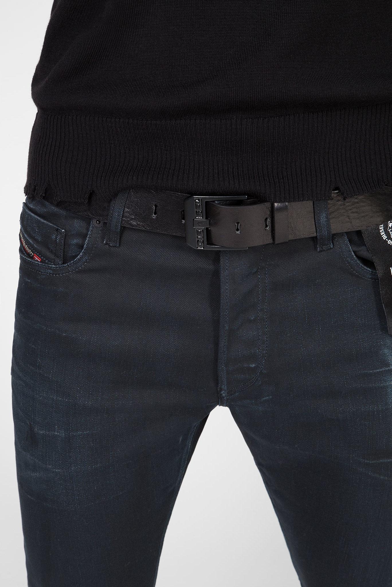 Мужской черный кожаный ремень BLUESTAR Diesel