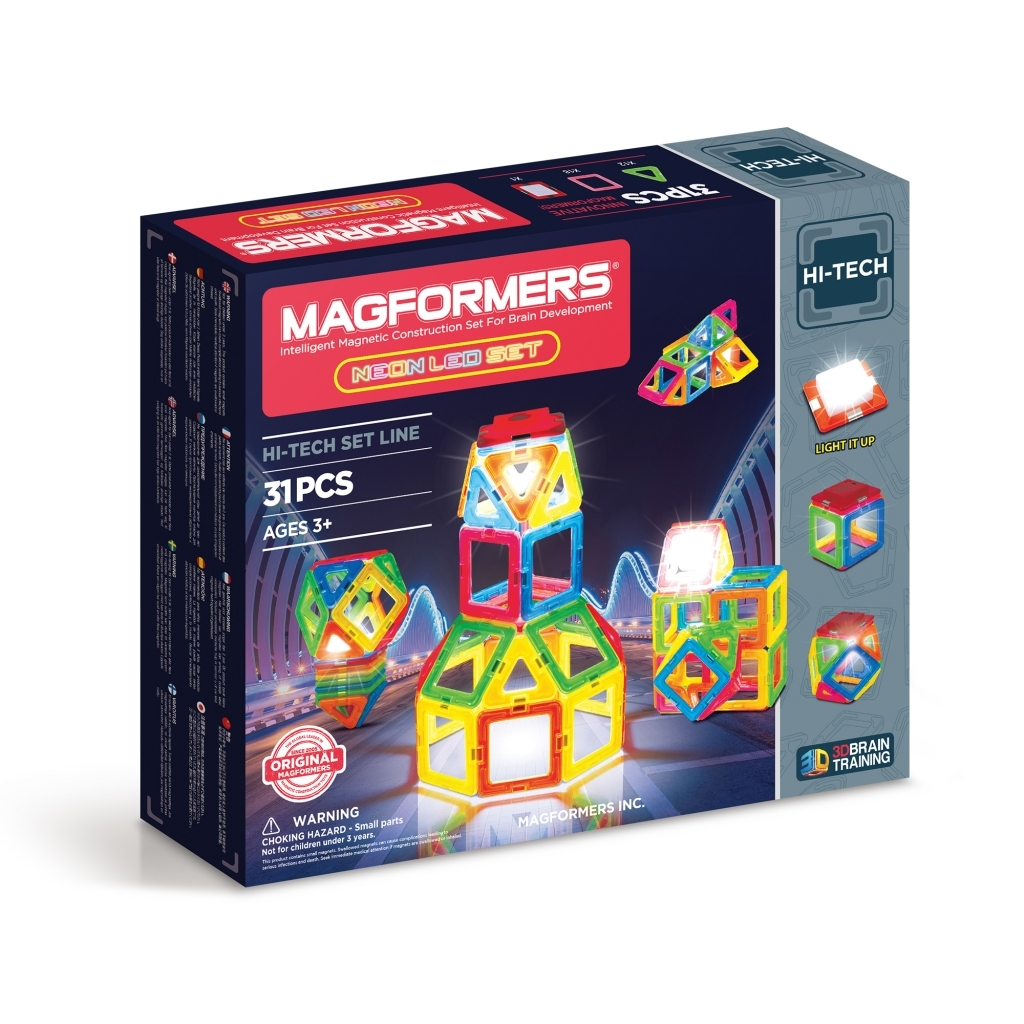 Магнитный конструктор Magformers Neon Led set