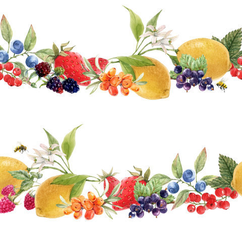 Лимоны и ягоды