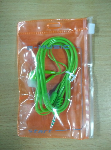Наушники вакуумные S-Music Start CX-115 green