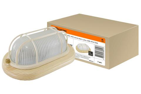 Светильник НПБ1202 сосна овал с реш. 100Вт IP54 TDM