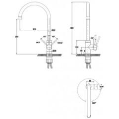 Смеситель KAISER Merkur 26344/5048 для кухни схема