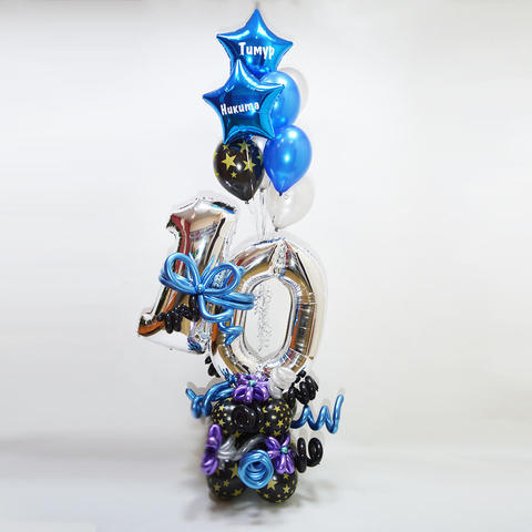 шары цифры, шарики на день рождения