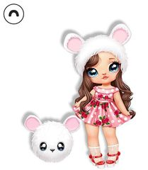 Кукла Na! Na! Na! Surprise Misha Mouse белый медвежонок 2 серия
