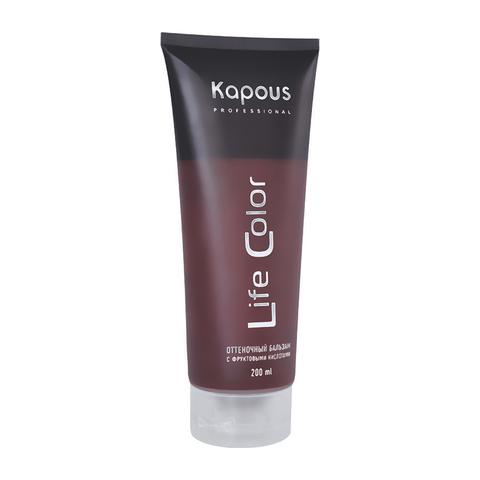 Оттеночный бальзам для волос песочный Life color Kapous Professional 200 мл