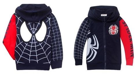 Человек паук толстовка детская