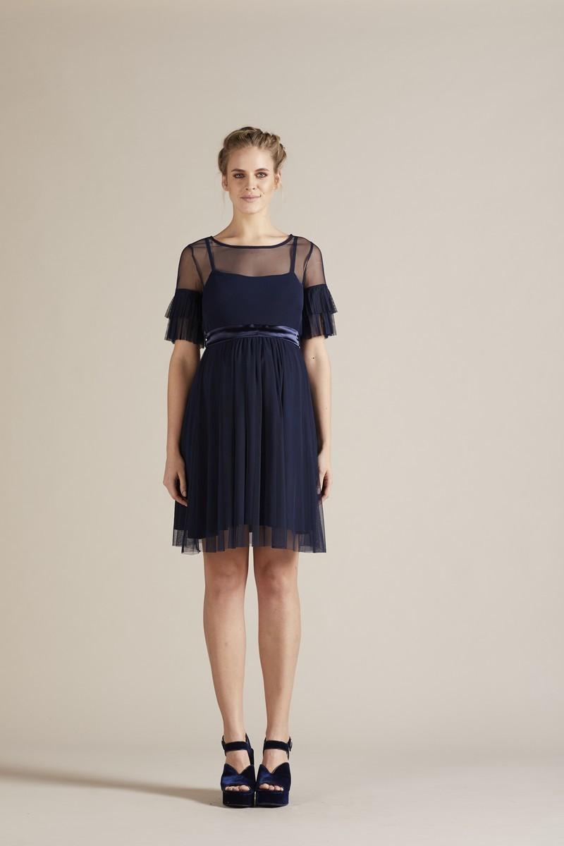 Фото платье для беременных GEBE от магазина СкороМама, темно-синий, размеры.