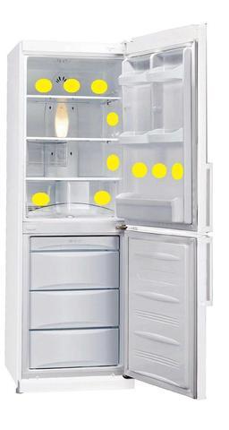 ЭМ-диски для холодильника 9 шт белые