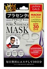 Набор масок с плацентой Pure5 Essence, Japan Gals