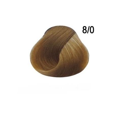 Перманентная крем краска для волос Ollin 8/0 светло русый