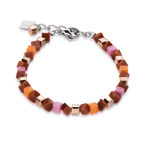 Браслет Coeur de Lion 4911/30-0219 цвет оранжевый, коричневый, розовый