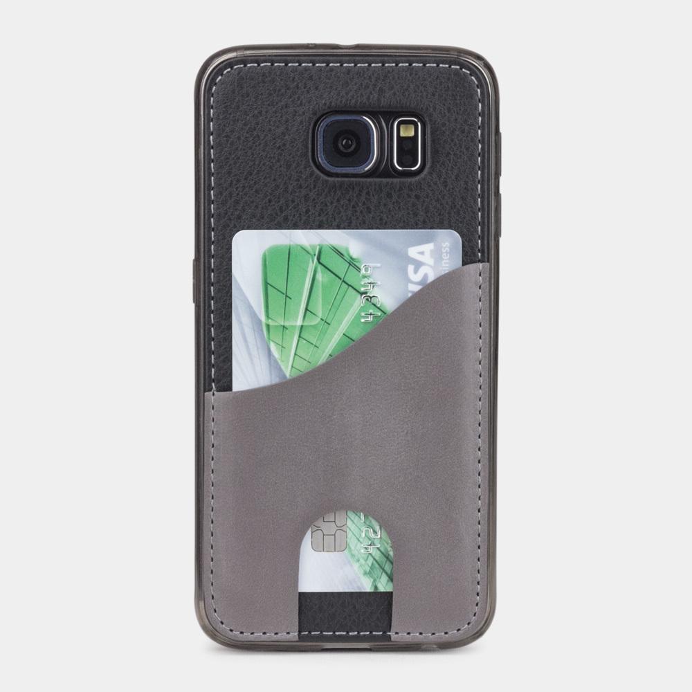 Чехол-накладка Andre для Samsung S6 из натуральной кожи теленка, черного цвета