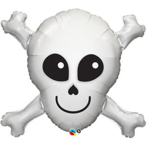 Фигура фольга Череп с костями