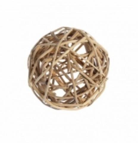 Плетеные шары из ротанга (набор:6 шт., d10см, цвет: натуральный