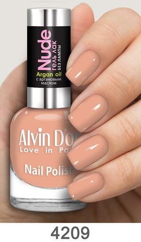 Alvin D`or Лак для ногтей Гель NUDE  тон 4209