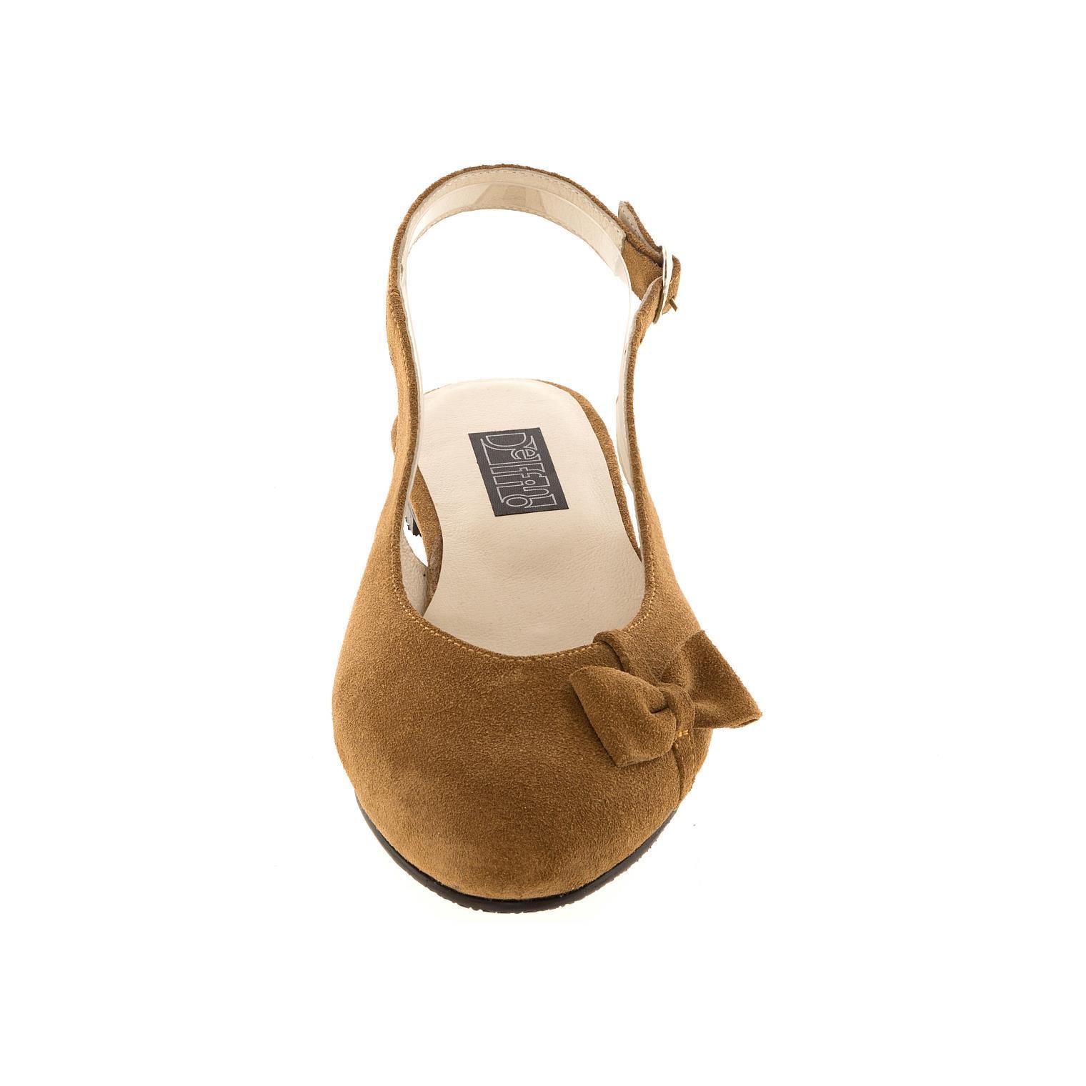 570199 Туфли летние женские бежевые замша больших размеров марки Делфино