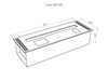 размеры Автоматический биокамин Good Fire 900 RC INOX
