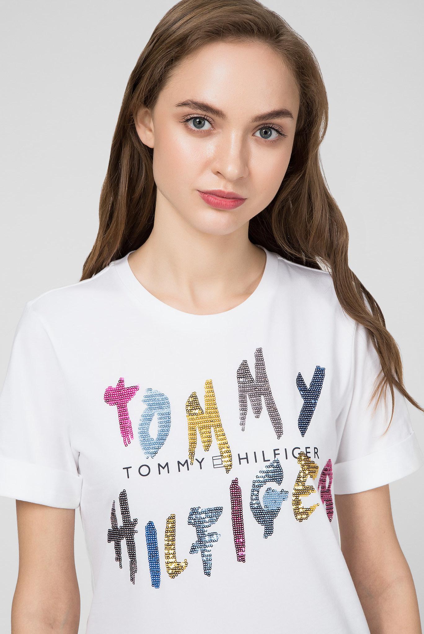 Женская белая футболка ROXY C-NK Tommy Hilfiger
