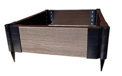 Еврогрядка 150 из ДПК 150х75 см, h - 15 см.