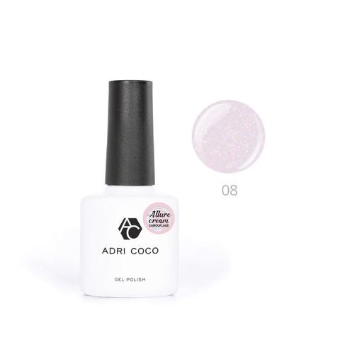 Гель-лак ADRICOCO Est Naturelle №08 камуфлирующий розовый с шиммером (8 мл.)