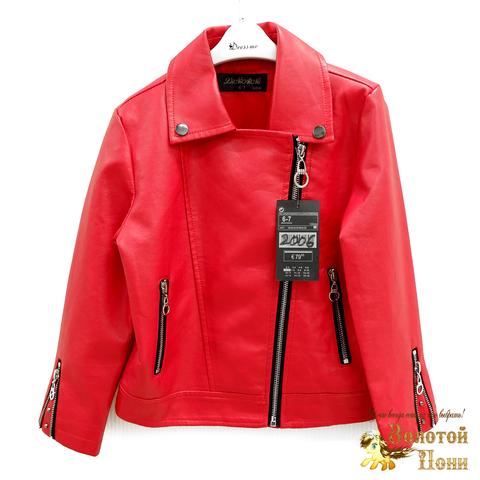 Куртка экокожа девочке (3-11) 200318-W2006.1