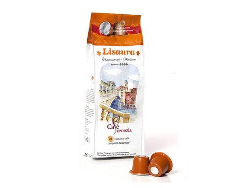 купить кофе в капсулах Cafe Venezia Lisaura, 25 капсул для кофемашин Nespresso