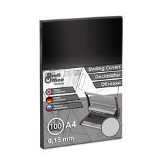 Обложки для переплета пластиковые ProfiOffice А4 150 мкм прозрачные глянцевые (100 штук в упаковке)