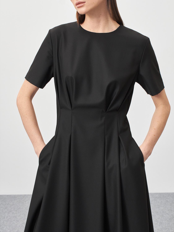 Платье Jordan с защипами на талии, Черный