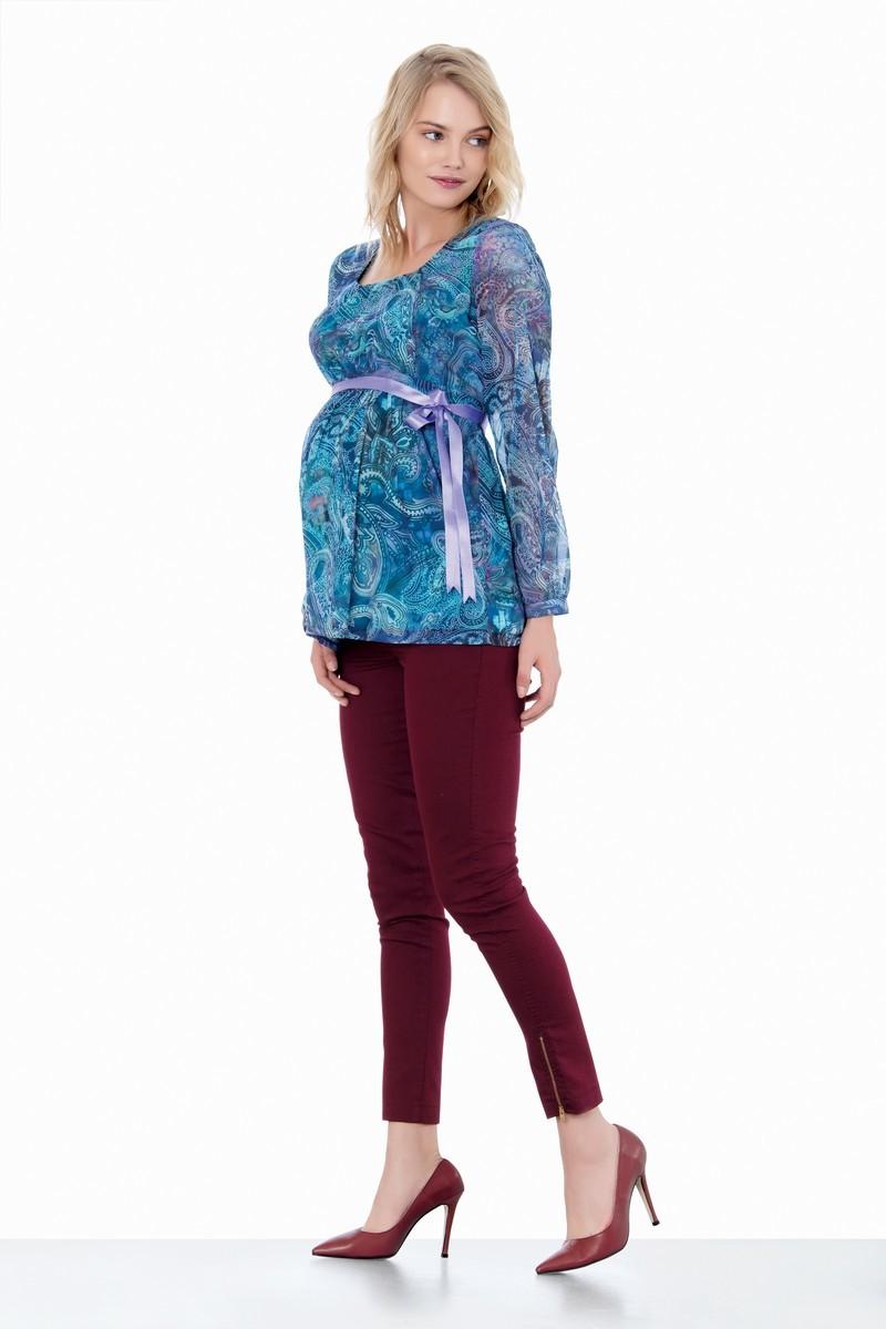 Блузка для беременных 01409 бирюзовый