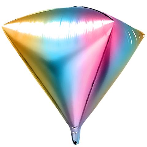 Шар фигура 3D Алмаз, градиент радуга, 52 см