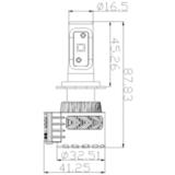 Светодиодные лампы H7 головного света Аврора  серия G8  ALO-G8-H7-6000LM ALO-G8-H7-6000LM фото-5