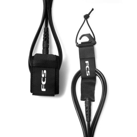 Лиш FCS 9' Regular Ankle Essential Leash Black