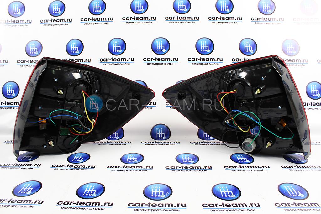 Задние фонари 310 LED на Лада Гранта седан, Гранта FL седан, диодные красно-серые