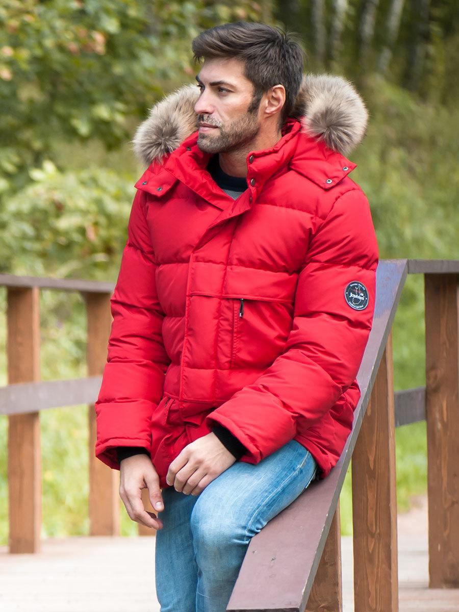 Joutsen пуховик Arctic Star Fur красный - Фото 1
