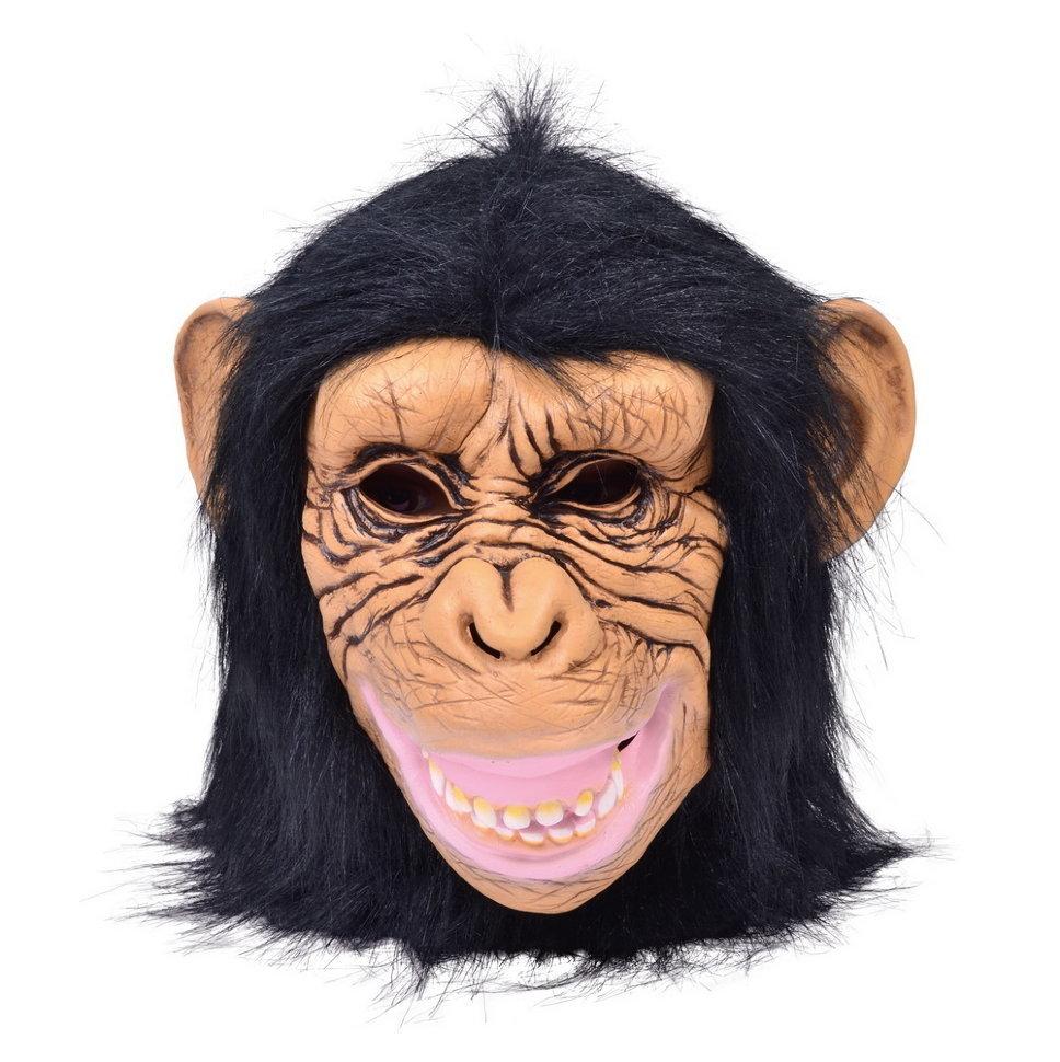 Маска обезьяны веселой