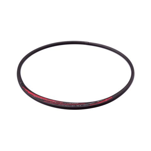 Ожерелье PHITEN RAKUWA NECKLACE S SLASH LINE, w lame (черно-красный)