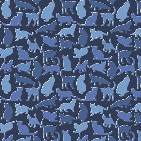 Котики на синем