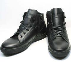 Теплые ботинки мужские зимние кожаные Ikoc 1608-1 Sport Black.