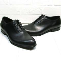 Стильные туфли мужские классические Ikoc 063-1 ClassicBlack.
