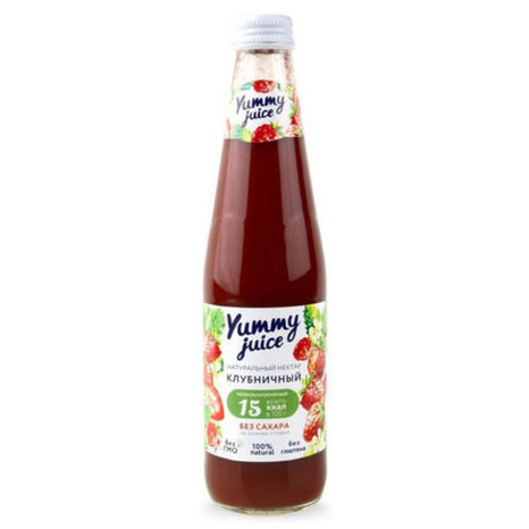 Нектар клубничный без сахара Yummy, 330мл