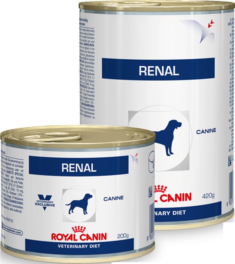 Royal Canin Консервы для собак, Royal Canin Renal (банка), при хронической почечной недостаточности renal_dog.png