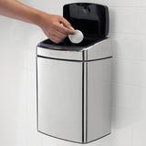 Прямоугольный мусорный бак Touch Bin (10 л), артикул 477201, производитель - Brabantia, фото 9