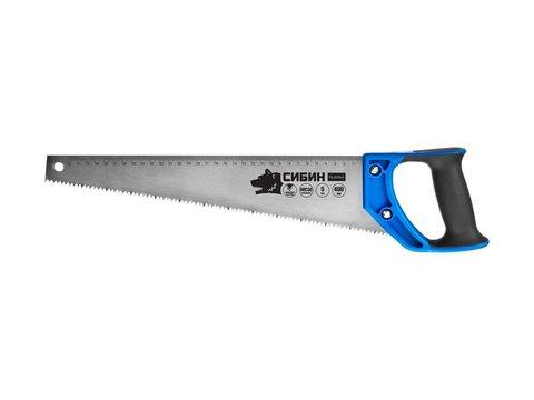 Ножовка по дереву (пила) 400 мм, шаг 5 TPI (4,5 мм), СИБИН