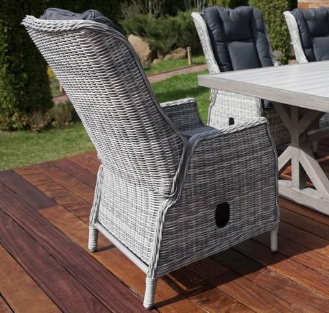 Регулируемое кресло «Верона» из искусственного ротанга, цвет светло-серый
