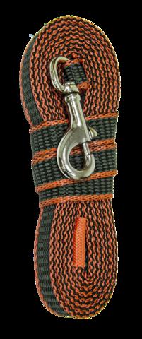 Зооник поводок капроновый с двойной латексной нитью 3м* 20мм оранжевый